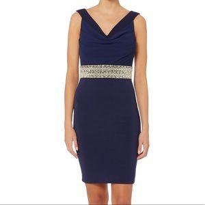 Topshop Navy Midi Dress